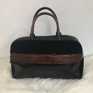 {SONDRA ROBERTS} Black Brown Bag Satchel